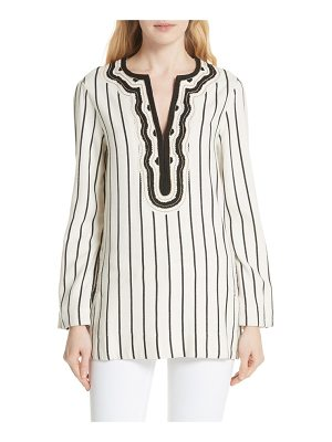 Tory Burch tory embellished stripe tunic