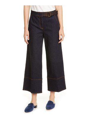 Tory Burch wide leg crop denim pants