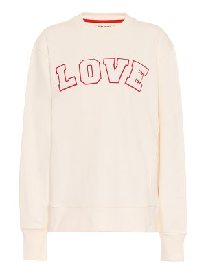 Tory Sport appliquéd cotton-jersey sweatshirt