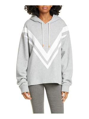 Tory Sport chevron french terry hoodie