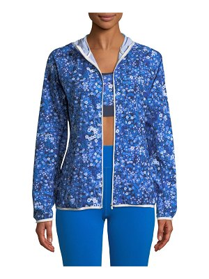 Tory Sport Floral-Print Packable Performance Jacket