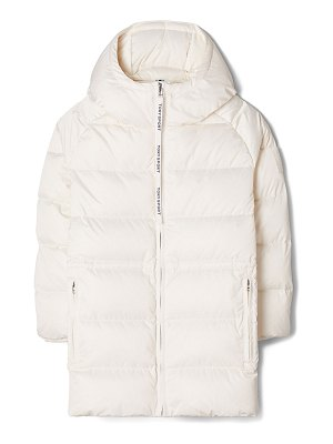 Tory Sport Hooded Quilted Puffer Performance Satin Jacket