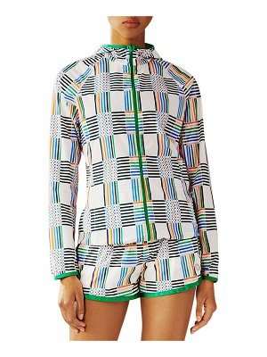 Tory Sport Printed Nylon Packable Jacket