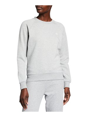 Tory Sport Raglan-Sleeve French Terry Crew Pullover