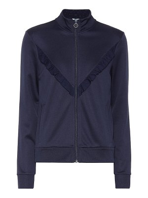 Tory Sport ruffle-trimmed track jacket