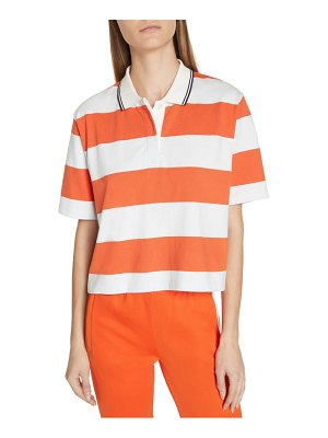 Tory Sport stripe crop polo