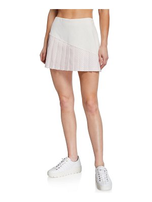 Tory Sport Striped Pleated-Hem Tennis Skirt
