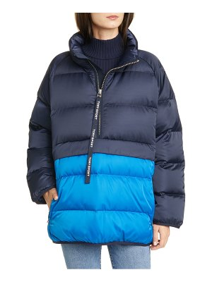 Tory Sport water resistant performance satin packable down jacket