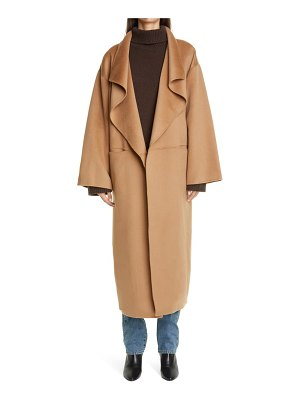 Toteme annecy open front wool & cashmere coat