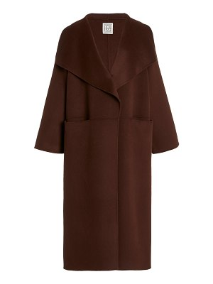 Toteme annecy oversized wool and cashmere coat