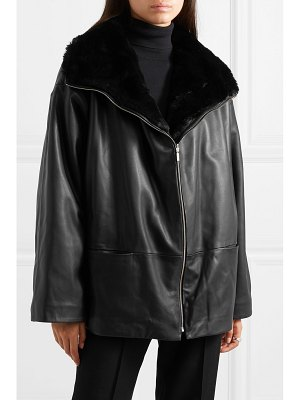 Totême annecy reversible leather and faux fur jacket
