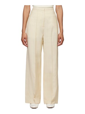 Toteme beige pine suit trousers
