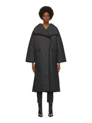 Toteme black quilted annecy coat