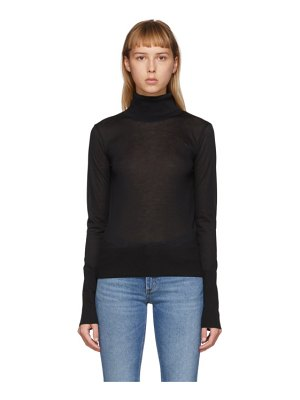 Toteme black roller lightweight turtleneck