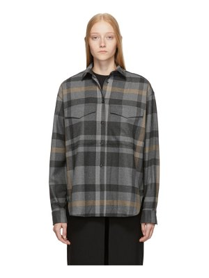 Toteme grey check novella shirt
