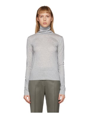 Toteme grey roller turtleneck