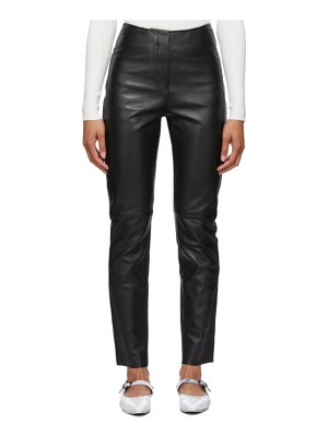 Toteme leather straight trousers