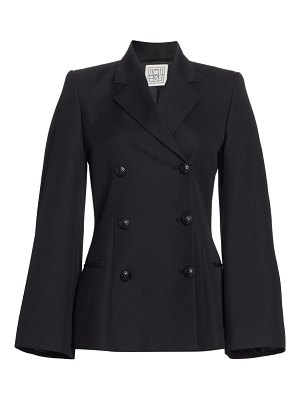 Toteme matera bell sleeve double breasted coat