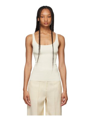 Toteme off-white compact knit tank top
