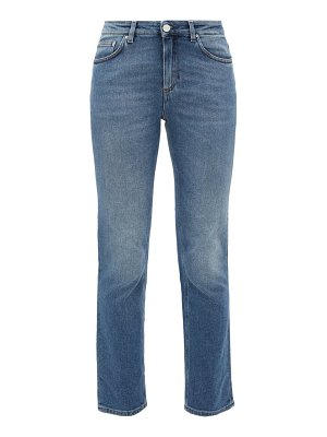 Totême straight-leg mid-rise cropped jeans