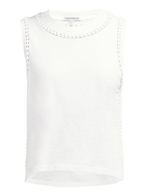 Track & Bliss the knot cotton tank