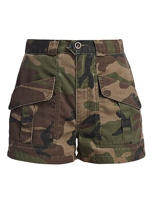 TRAVE lucy high-waist camo shorts