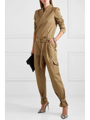 TRE by Natalie Ratabesi belted cotton-blend twill jumpsuit