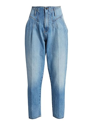 TRE by Natalie Ratabesi pleated high-rise jeans