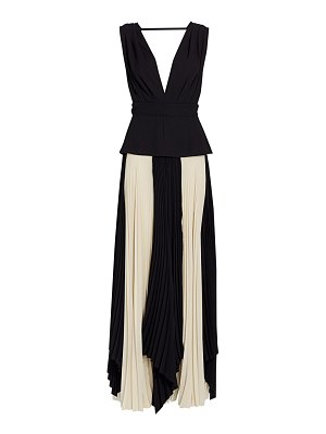 TRE by Natalie Ratabesi pleated silk & wool gown