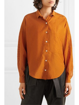 TRE by Natalie Ratabesi the iris striped wool, cotton and silk-blend voile shirt