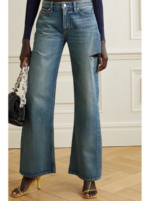 TRE by Natalie Ratabesi the mimi distressed high-rise wide-leg jeans