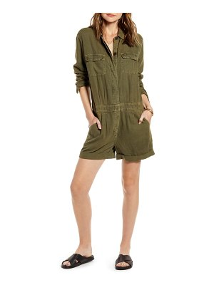 Treasure & Bond boiler long sleeve linen blend romper