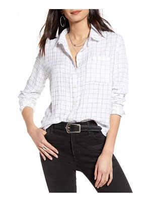 Treasure & Bond breezy check boyfriend shirt