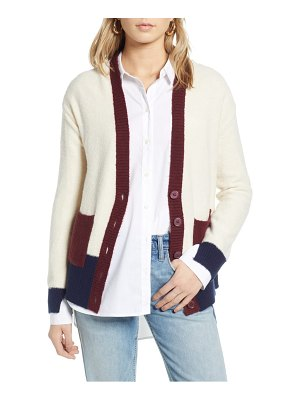 Treasure & Bond colorblock v-neck cardigan