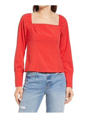Treasure & Bond fitted stretch square neck top