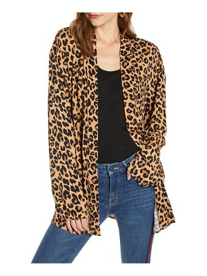 Treasure & Bond leopard print open jacket