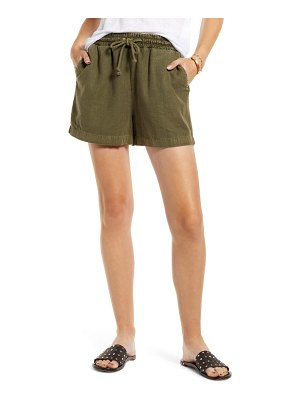 Treasure & Bond linen blend drawstring shorts