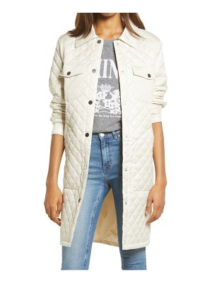 Treasure & Bond long quilted jacket