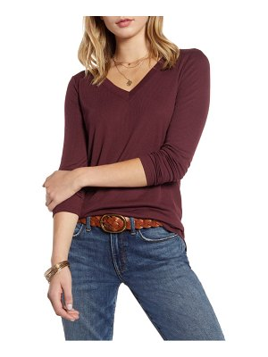 Treasure & Bond ribbed v-neck top