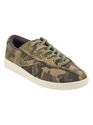 Tretorn Nylite 29 Plus Camo-Print Suede Sneakers