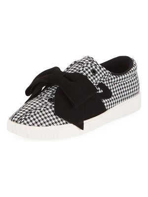 Tretorn NYLite Lace-Up Houndstooth Sneakers w/ Bow
