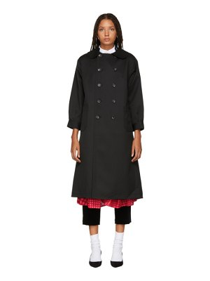 Tricot Comme Des Garçons Double-Breasted Trench Coat