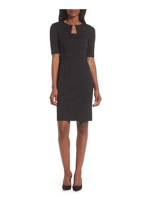 trina Trina Turk scotch notch neck sheath dress
