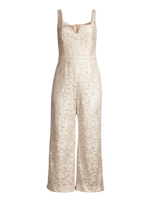 Trina Turk adventure cropped lace jumpsuit