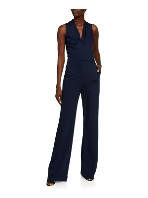 Trina Turk Adventurous V-Neck Sleeveless Ponte Jumpsuit
