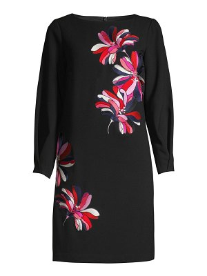 Trina Turk calistoga embroidered floral shift dress