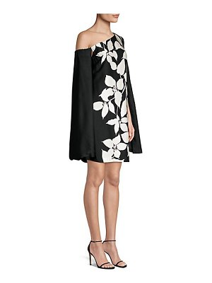 Trina Turk jazzy floral cape mini dress