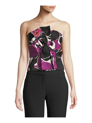 Trina Turk Lacquer Orchid Strapless Top