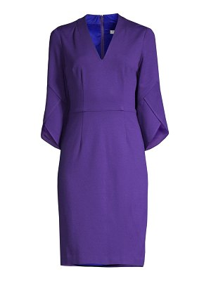 Trina Turk swish trumpet-sleeve sheath dress