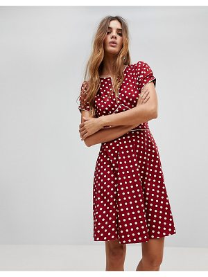 Trollied Dolly Polka Dot Dip And Flare Dress